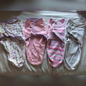 4 SwaddleMe Swaddling Blankets for Girls